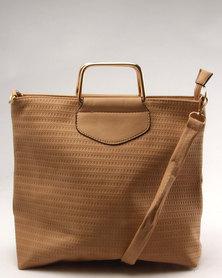 Utopia Embossed Bag Camel