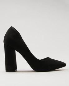 Call It Spring Gricode Ladies Flared Heel Half d'Orsay Pump Black