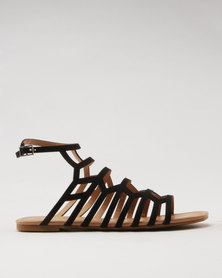 Call It Spring Drireven Ladies Cut-Out Strappy Flat Sandal Black