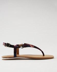 Call It Spring Tomaras Ladies Wide T-Bar Bungee Flat Sandal Multi