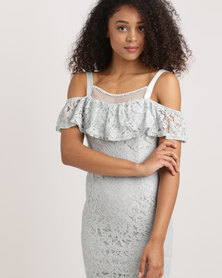 London Hub Fashion Lace Dress Blue