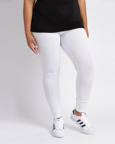 Utopia Plus Basic Leggings White