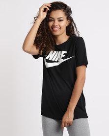 Nike Womens Nike Sportswear Essential Tee HBR Black