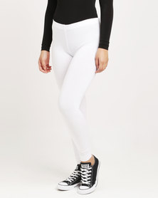 Paige Smith Basic Leggings White