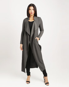 Paige Smith Drape Coat Khaki