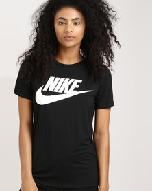 Nike Womens Sportswear Essential Tee HBR Black