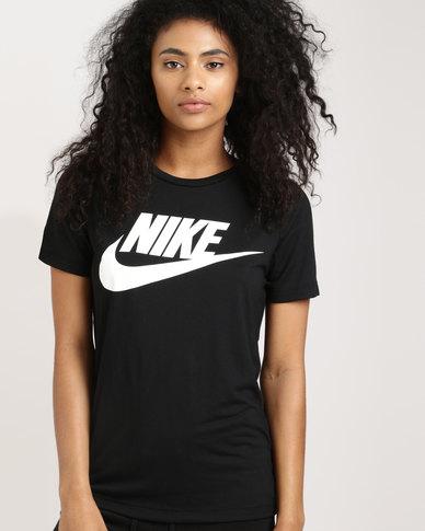fc98b5799 Nike Womens Sportswear Essential Tee HBR Black | Zando