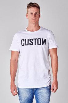 CUSTOM APPAREL Custom Long Line Tee White