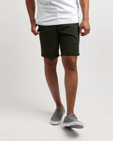 Quiksilver Krandy Slim Shorts Olive Green