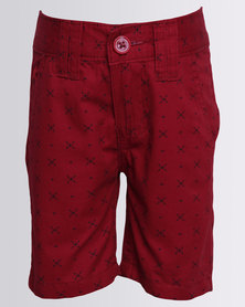 Soviet Boys Kale Shorts Burgundy