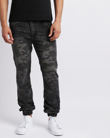 Alpha Industries Bravo Camo Joggers Black