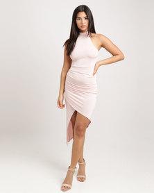 Brett Robson Layla Ruched Dress Pink