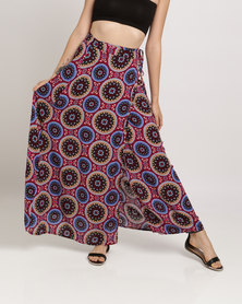 Peg Ruby Wrap Skirt Maroon