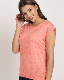 Cath Nic By Queenspark Plain Knit Top Coral