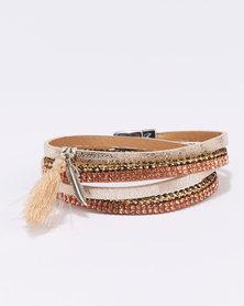 Queenspark Wrap Bracelet with Magnetic Fastener Gold