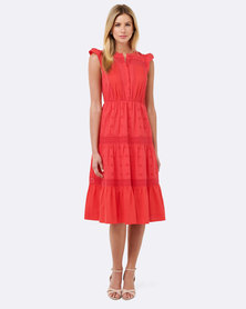 Forever New Eva Midi Dress Candied Apple