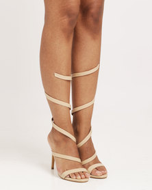 Public Desire Fire Spiral Strap Barely There Nude
