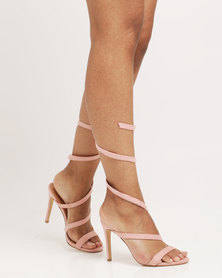 Public Desire Fire Spiral Strap Barely There Blush Pink