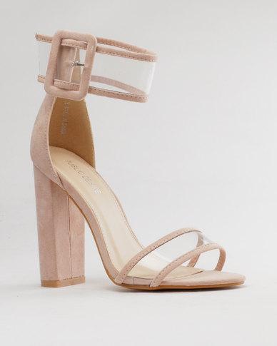 a1d2ec56984 Public Desire Mission Perspex Detail Heel Blush Pink