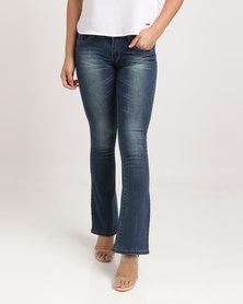 Soviet Danice Bootleg Jeans Indigo