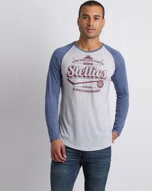 Stellies The Baseball Legacy Tee Grey/Blue/Burgundy