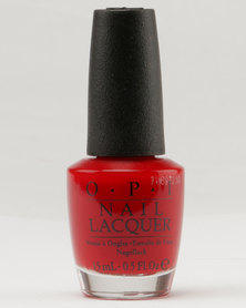 OPI Nl Red Hot Rio Hot Red