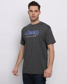 Jeep Applique/Embriodery T-Shirt Grey
