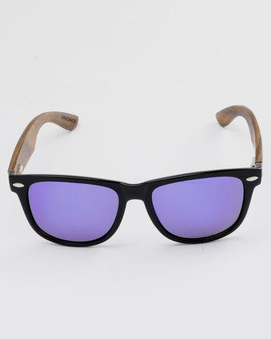 3a19c3e421 Thisguy. Ebony Wood Wayfarer Full Frame Polarized Lens Sunnies Black | Zando