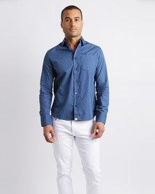 Soviet M Balzac Long Sleeve Shirt True Blue