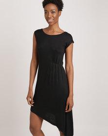 Catwalk 88 Sleeveless Asymmetric Dress Black