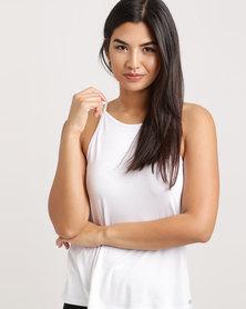 FIT Gymwear Swing Vest White