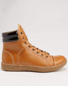 Tom_Tom Mens Boot Giorgio Ruzza Tan/Choc