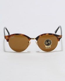 Ray-Ban Clubround Sunglasses Brown