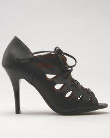 Vizzano Tie Heeled Sandal Black