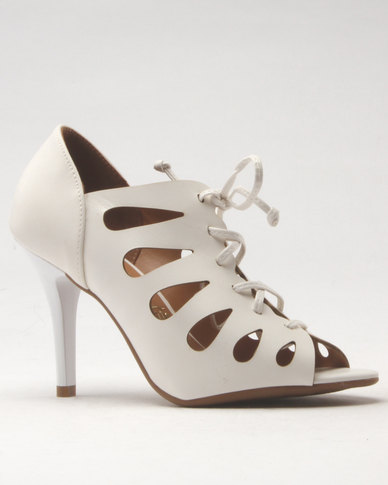 sale cheap clearance pay with paypal Vizzano Vizzano Tie Heeled Sandal White vh48i0hM