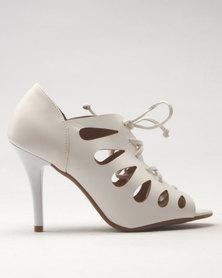 Vizzano Tie Heeled Sandal White