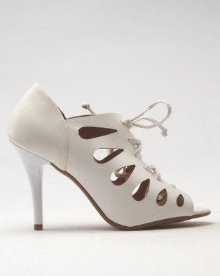 1f21e0605fd Vizzano Tie Heeled Sandal White