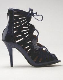 Vizzano Cut Out Heeled Sandal Blue