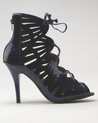 d2245513db0 Vizzano Cut Out Heeled Sandal Blue