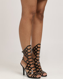 Vizzano Lasered Heel Sandal Black