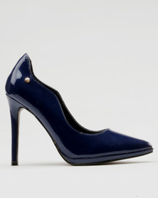 collections cheap price PLUM PLUM Kalie Denim Embroidered High Heel Court Shoe Dark Blue Denim free shipping footlocker finishline from china free shipping low price Inexpensive sale online G4g35fOYnq