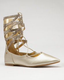 Dolce Vita Brock Lace Up Pumps Gold