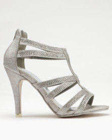Dolce Vita Zeta Heel Sandals Pewter