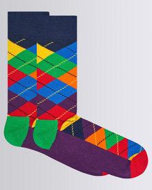 Happy Socks Argyle Sock Multi Colour