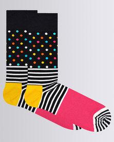 Happy Socks Stripe Dot Sock Multi Colour