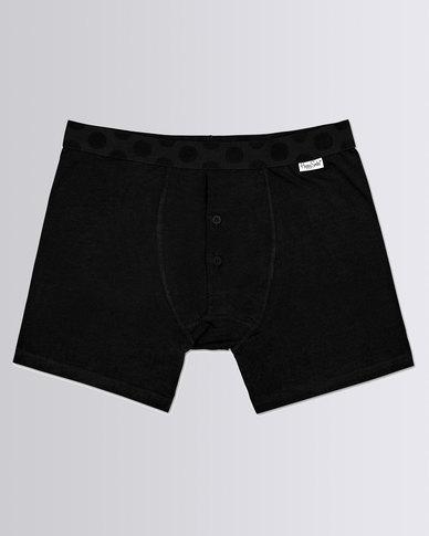 Happy Socks Solid Boxer Brief Black