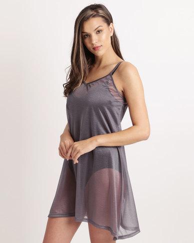 UB Creative Chiffon Cammie Dress Grey