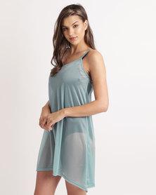 UB Creative Chiffon Cammie Dress Turquoise