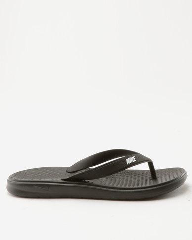 size 40 42115 f5e7e Nike Solay Thong Sandals Blue/White