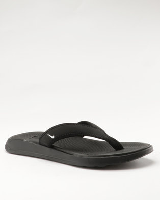 05d6845bb4ed4d Nike Ultra Celso Thong Sandals Black White